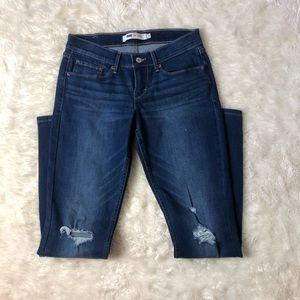 Distressed Levi's 524 Blue Jeans Pants